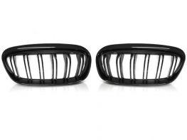 Решётка BMW 2 F45 / F46 (14-18) - чёрная (двойные рёбра)