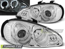Фары передние MAZDA MX-3 (91-98) ANGEL EYES CROME