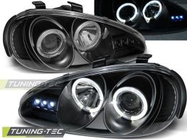 Фары передние MAZDA MX-3 (91-98) ANGEL EYES BLACK